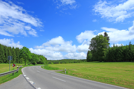 Country road on the Swabian Alb, Germany photo