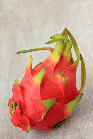 commercially: Hylocereus undatus fruit of the cactus plant commercially known as pitahaya Stock Photo