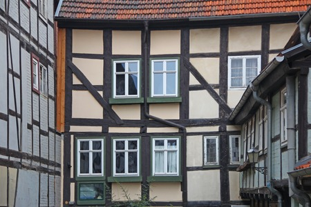 half  timbered: Half timbered houses in Quedlinburg, Saxony-Anhalt, Germany