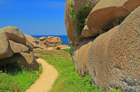 english channel: Cte de Granit Rose, Brittany, English Channel, France