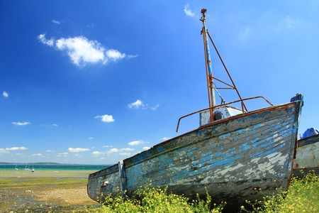 Ship wreck in Le Fret, Crozon community, Finist?re, Brittany, France photo