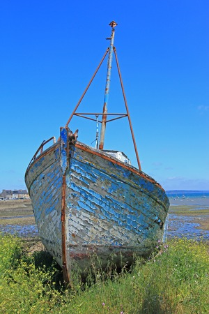 Ship wreck in Le Fret, Crozon community, Finistre, Brittany, France photo