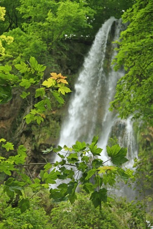 overthrow: The waterfall of Bad Urach Swabian Alb, Baden-Wuerttemberg, Germany