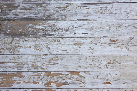 macro texture: white painted and weathered wooden boards Stock Photo