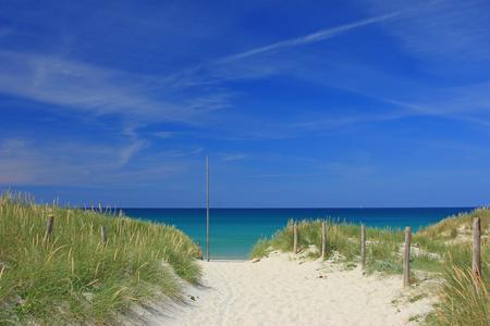 sandy beach: Beach at Tronoen, Brittany, France