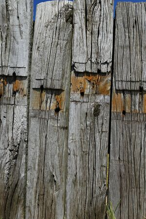 wooden beams: weathered wooden beams Stock Photo