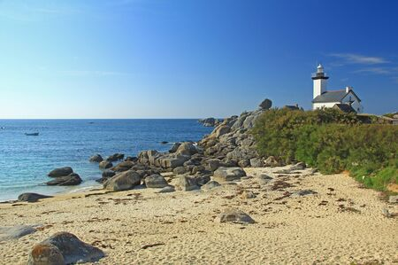 brittany: Lighthouse Phare de Pontusval, Brittany, France