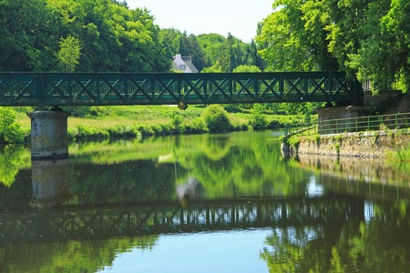 brittany: Nantes-Brest canal, Brittany, France Stock Photo