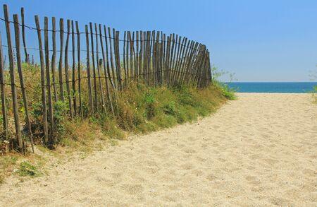 beach access: Beach access on the Atlantic Ocean in Brittany, France