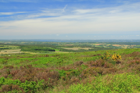 Landscape in Brittany, Finistere - View from Menez Hom