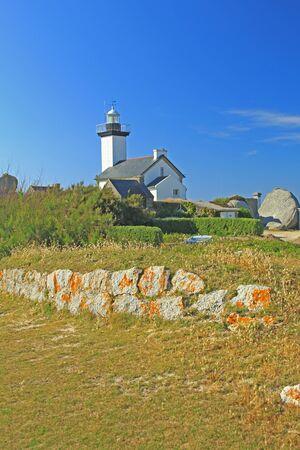 Lighthouse Phare de Pontusval, Brittany, France