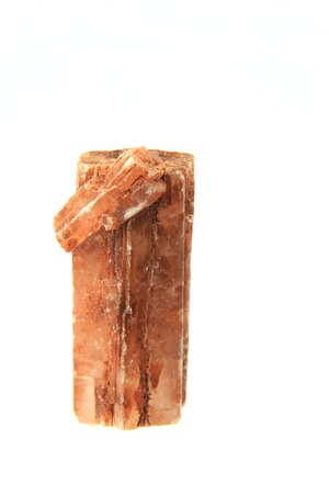 aragonite: Aragonite crystal isolated in front of white background