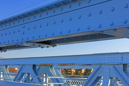 Riveted steel structure of a bridge