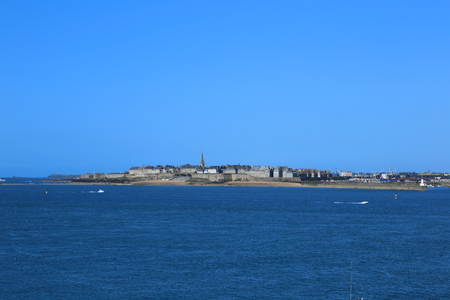 intramural: View on Saint-Malo from Dinard, Brittany, France