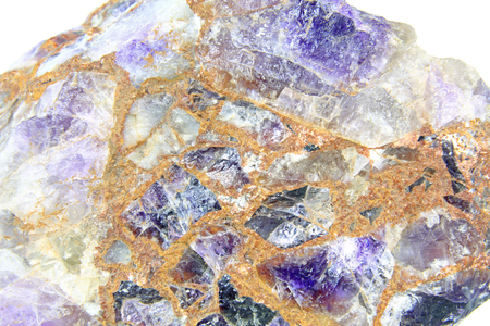Amethyst, rough stone, conglomerate, image width approx. 8 cm
