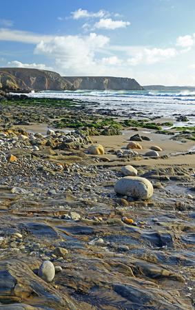 Gravel beach in Brittany, France (Plage de Veryach)
