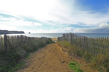 Beach in Brittany, France (Plage de Pen Hat), Atlantic Ocean