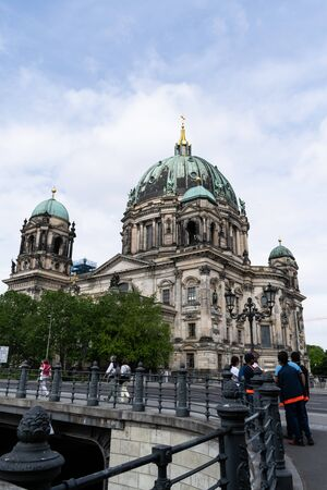 Berlin Cathedral with visitor