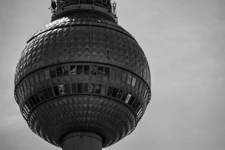 TV tower Berlin in black and white Редакционное
