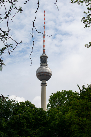 TV tower Berlin under blue sky