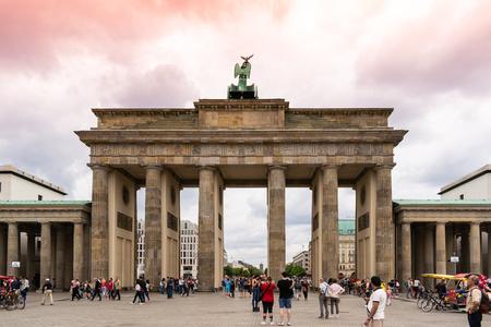 Brandenburg Gate with tourist
