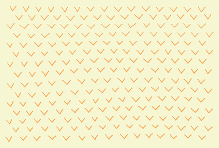 Handdrawn abstract pattern. Birdie, checkmark. Vector isolated.