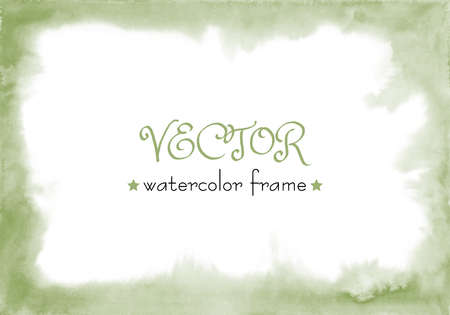 Green watercolor texture. Green background. Green watercolour.Watercolor wash.Watercolor brush. Hand painted texture. Watercolor frame, soft edges. Emerald Watercolour.Emerald, Olive vector frame.greenish gradient