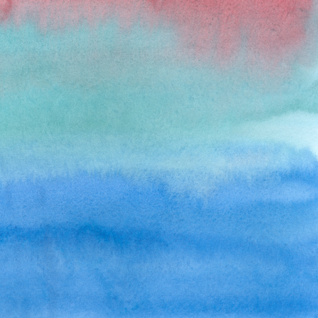 pink and brown background: Hand painted blue watercolor background. Watercolor wash. Abstract painting. Hand drawn watercolor texture with soft transitions. Blue, red, green, brown, pink, aquamarine color. Stock Photo