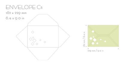 Sobre C5 plantilla vector de corte con troquel. sobre de la invitación de boda para el corte de la máquina de corte por láser. Envolvente maqueta con cuadrados. Invitación sobre C5. plantilla Envolvente para el corte por láser. un diseño minimalista.