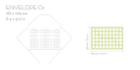 Koperta C5 szablon wektor wyciąć. Koperta zaproszenie na ślub do maszyny do cięcia laserowego. Makieta koperty z kwadratem.