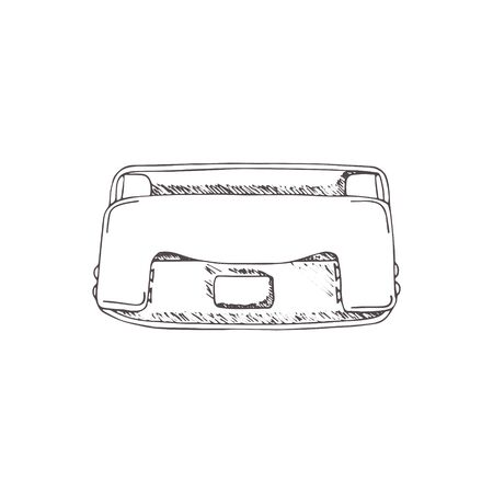 hole puncher: Hole puncher. hand draw illustration with doodle, sketch style.