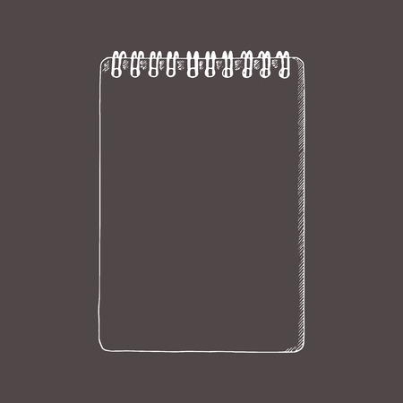 Notebook, notepad. Doodle, sketch style. Hand drawn illustration.