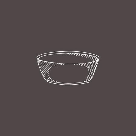 sketch illustration cup. Hand drawn doodle style. Engraving effect. Foto de archivo