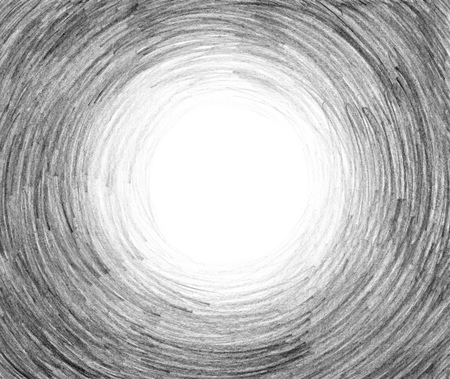 Kleurpotlood gekrabbelachtergrond in grijze tonen. Met de hand geschilderde abstracte achtergrond. Ontwerpelement met focus. Hand getrokken textuur van zwart waspotlood.
