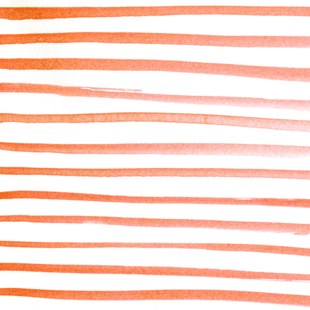 Red hand painted watercolor pattern. Watercolour pink wash texture. Gradient water colour background. Line drawing. Strips. Foto de archivo