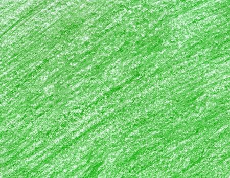 Een groen waspotlood. Hand getrokken smaragdgroene textuur. Kruiden achtergrond. Lineair patroon. Groene kleurpotloden. Stockfoto