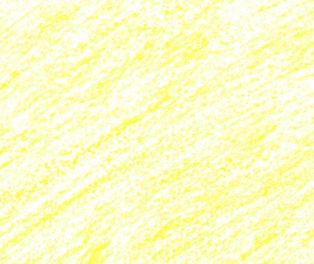 Hand getekend gele textuur. Kleurpotloden achtergrond. Citroenlijn met een potlood. Waskrijtframe. Lichte limoenlijnen. Abstracte waspotloodtextuur. Lime crayons potlood. Abstracte achtergrond.