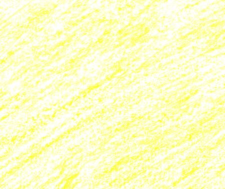 Hand drawn yellow texture. Crayons background. Citric line with a pencil. Wax crayon frame. Light lemon lines. Abstract wax pencil texture. Lime crayons pencil. Abstract background. Foto de archivo