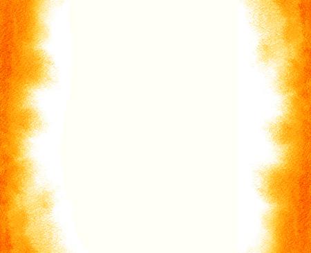 Rood-oranje waterverf gevoelig frame. Abstracte achtergrond met vage randen. Ombre waterverf flamy textuur. Hand getrokken vurige achtergrond met zachte randen. Geel, oranje, zand, zonnekleur.