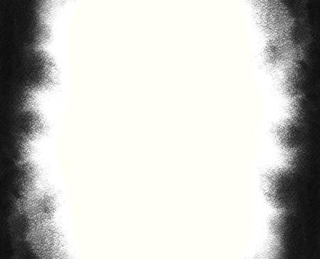 Zwart aquarel frame. Grijze waterverfhand geschilderde achtergrond. Waterkleuren wassen. Textuur met vage randen. Stockfoto