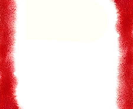 Wijnrood aquarel frame met zachte randen. Ombre aquarel frame. Met de hand geschilderde waterverftextuurkleur van bloed. Hand getrokken grens wijnbouw, bordeaux, Bordeaux, kastanjebruine kleur.