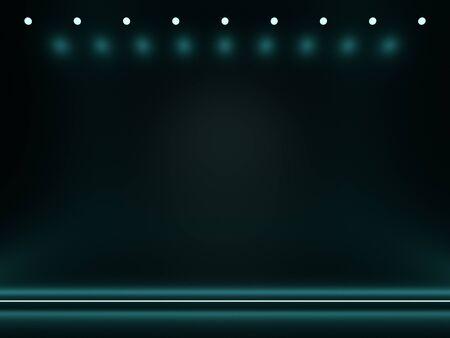 Neon simple abstract background. Blue, green. 3d render Foto de archivo