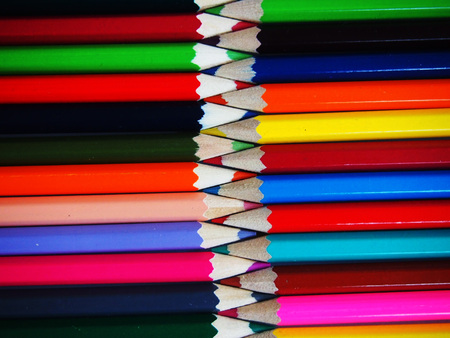 colourfully: colourfully crayon Stock Photo