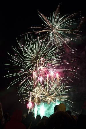 guy fawkes night: Fireworks display in Cambridge UK on November 5th