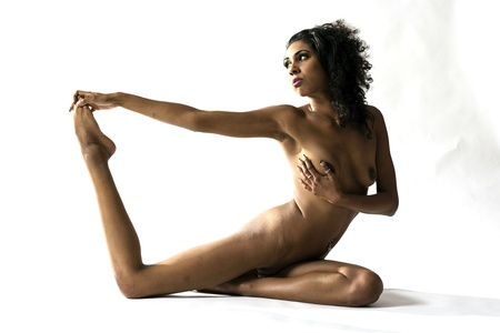 Art Nude Woman Portrait - Yoga Pose