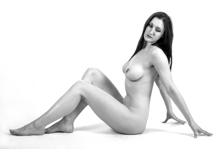 art nude high key studio portrait
