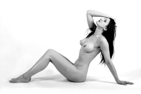 desnudo artistico: arte retrato desnudo Foto de archivo