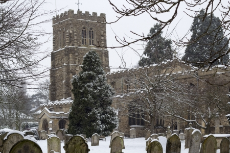 Eaton Socon Church St Neots in the snow
