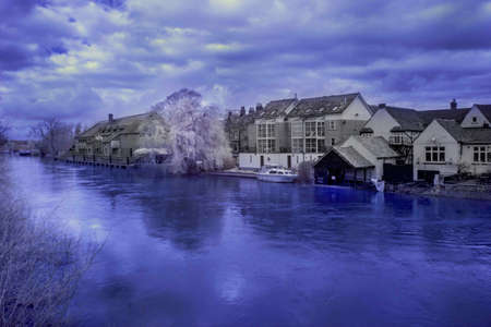 cambridgeshire: St Neots River Infrared Photo