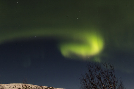 Photo of the northern lights (Aurora Borealis) taken on our travels to Iceland